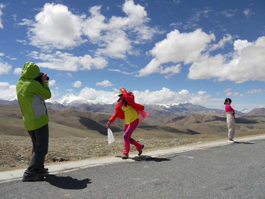 Chinese tourists in Tibet